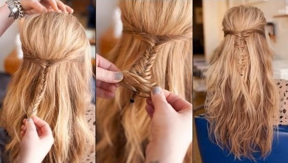 Best Of Easy Half Up Half Down Hairstyles Collection Funny N Witty